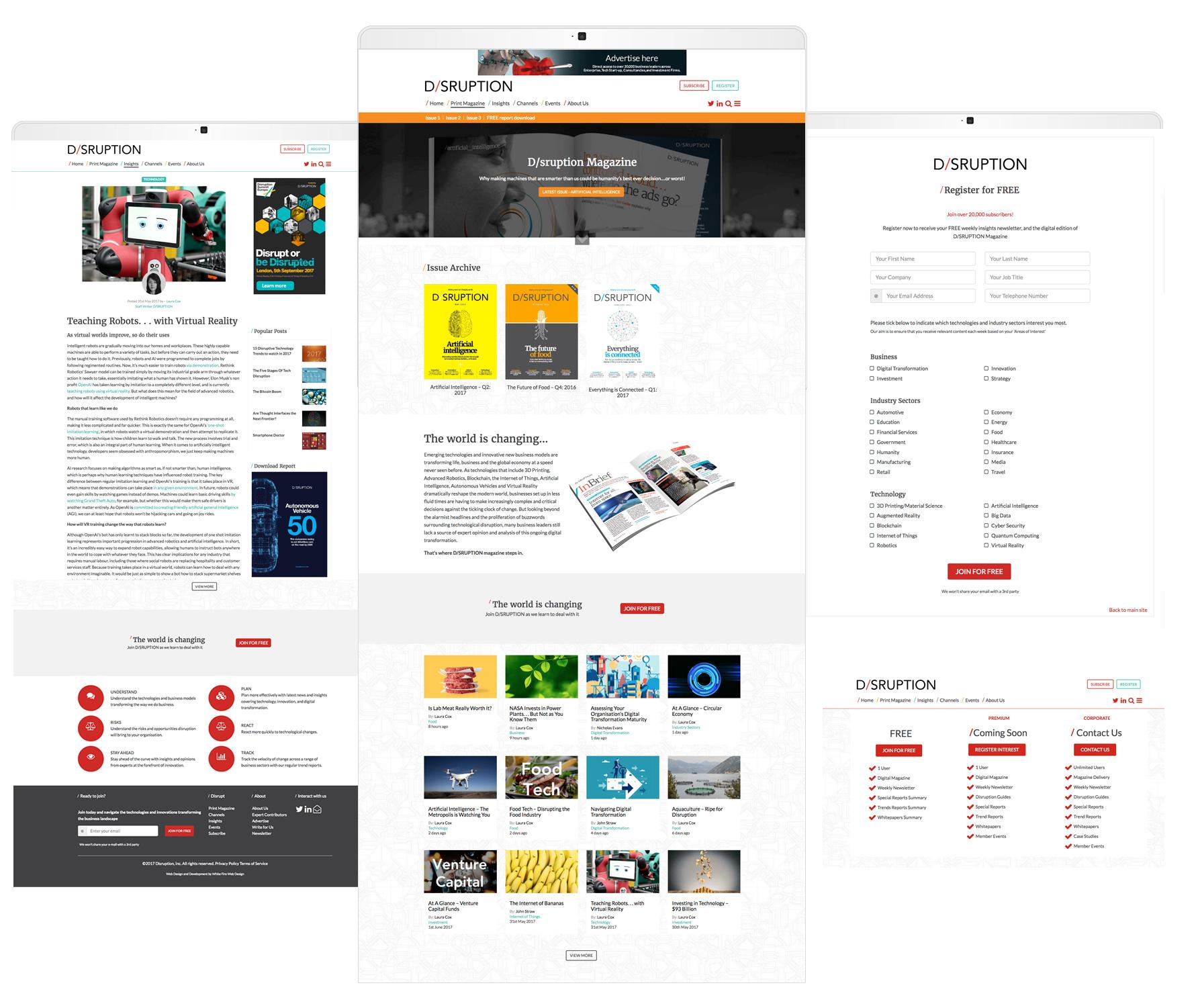 Disruption Hub – Membership Website | White Fire Design